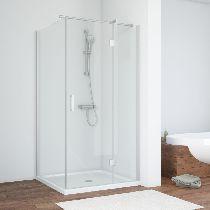 Душевой уголок Vegas Glass AFP-Fis 90*70 07 01 L профиль хром матовый, стекло прозрачное