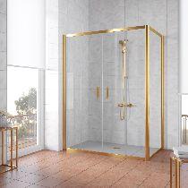 Душевой уголок Vegas Glass Z2P+ZPV 150*70 09 01 профиль золото, стекло прозрачное