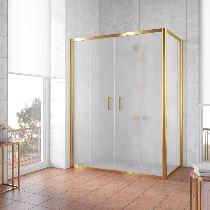 Душевой уголок Vegas Glass Z2P+ZPV 170*100 09 10 профиль золото, стекло сатин