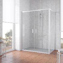 Душевой уголок Vegas Glass Z2P+ZPV 180*100 01 01 профиль белый, стекло прозрачное