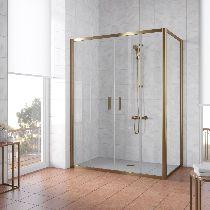 Душевой уголок Vegas Glass Z2P+ZPV 180*100 05 01 профиль бронза, стекло прозрачное