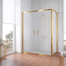 Душевой уголок Vegas Glass Z2P+ZPV 180*100 09 10 профиль золото, стекло сатин