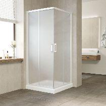 Душевой уголок Vegas Glass ZA 0080 01 10 профиль белый, стекло сатин