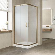 Душевой уголок Vegas Glass ZA 0080 05 10 профиль бронза, стекло сатин