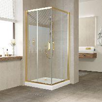 Душевой уголок Vegas Glass ZA 0080 09 01 профиль золото, стекло прозрачное