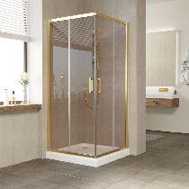 Душевой уголок Vegas Glass ZA 0080 09 05 профиль золото, стекло бронза