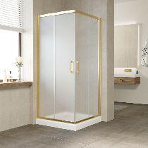 Душевой уголок Vegas Glass ZA 0080 09 10 профиль золото, стекло сатин