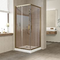 Душевой уголок Vegas Glass ZA 0090 05 05 профиль бронза, стекло бронза