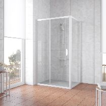 Душевой уголок Vegas Glass ZP+ZPV 140*90 01 01 профиль белый, стекло прозрачное