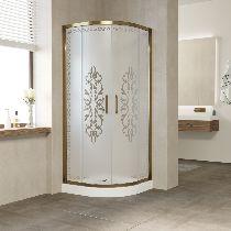 Душевой уголок Vegas Glass ZS-F 100*90 05 01 профиль бронза, стекло Felicita2