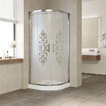 Душевой уголок Vegas Glass ZS-F 100*90 08 02 профиль глянцевый хром, стекло Felicita2