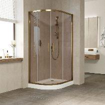 Душевой уголок Vegas Glass ZS-F 100*80 05 05 профиль бронза, стекло бронза