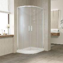 Душевой уголок Vegas Glass ZS-F 100*90 01 10 профиль белый, стекло сатин