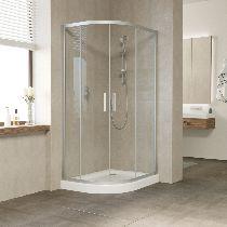 Душевой уголок Vegas Glass ZS-F 100*90 07 01 профиль матовый хром, стекло прозрачное