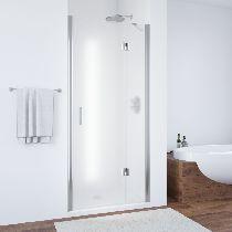 Душевая дверь Vegas-Glass AFP 0100 08 10 L профиль хром стекло сатин