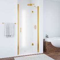 Душевая дверь Vegas-Glass AFP 0100 09 10 L профиль золото стекло сатин