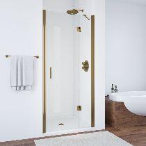 Душевая дверь Vegas-Glass AFP 0100 05 01 L профиль бронза стекло прозрачное