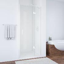 Душевая дверь Vegas-Glass AFP 0110 01 01 L профиль белый стекло прозрачное