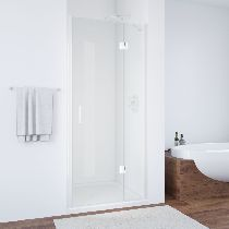 Душевая дверь Vegas-Glass AFP 0120 01 01 L профиль белый стекло прозрачное