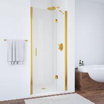 Душевая дверь Vegas-Glass AFP 0120 09 01 L профиль золото стекло прозрачное