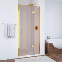 Душевая дверь Vegas-Glass AFP 0120 09 05 R профиль золото стекло бронза