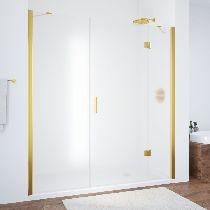 Душевая дверь Vegas-Glass AFP-F 130 09 10 L профиль золото стекло сатин
