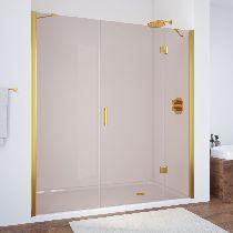 Душевая дверь Vegas-Glass AFP-F 130 09 05 R профиль золото стекло бронза