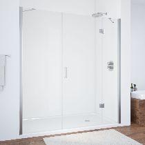 Душевая дверь Vegas-Glass AFP-F 150 08 01 L профиль хром стекло прозрачное