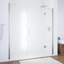 Душевая дверь Vegas-Glass AFP-F 160 08 10 L профиль хром стекло сатин