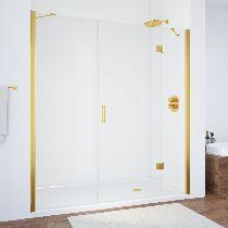 Душевая дверь Vegas-Glass AFP-F 160 09 01 R профиль золото стекло прозрачное