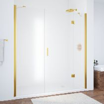 Душевая дверь Vegas-Glass AFP-F 170 09 10 R профиль золото стекло сатин