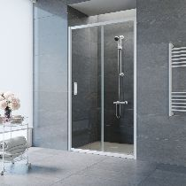 Душевая дверь Vegas-Glass ZP 0100 01 01 профиль белый стекло прозрачное