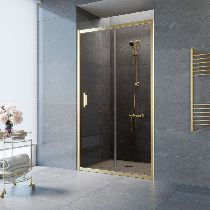 Душевая дверь Vegas-Glass ZP 0105 09 05 профиль золото стекло бронза