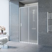 Душевая дверь Vegas-Glass ZP 0110 01 10 профиль белый стекло сатин