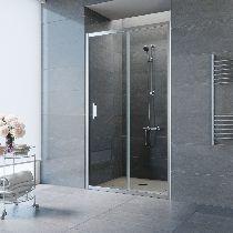 Душевая дверь Vegas-Glass ZP 0125 08 01 профиль хром стекло прозрачное