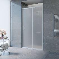 Душевая дверь Vegas-Glass ZP 0125 07 10 профиль матовый хром стекло сатин