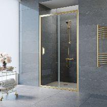 Душевая дверь Vegas-Glass ZP 0125 09 01 профиль золото стекло прозрачное
