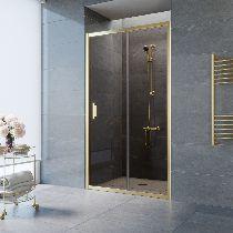 Душевая дверь Vegas-Glass ZP 0125 09 05 профиль золото стекло бронза