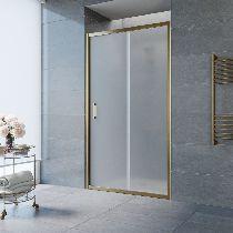 Душевая дверь Vegas-Glass ZP 0125 05 10 профиль бронза стекло сатин