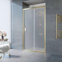 Душевая дверь Vegas-Glass ZP 0130 09 10 профиль золото стекло сатин