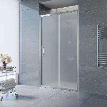 Душевая дверь Vegas-Glass ZP 0135 08 10 профиль хром стекло сатин