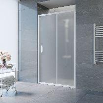 Душевая дверь Vegas-Glass ZP 0140 01 10 профиль белый стекло сатин