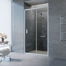 Душевая дверь Vegas-Glass ZP 0150 07 01 профиль матовый хром стекло прозрачное