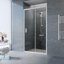 Душевая дверь Vegas-Glass ZP 0160 01 01 профиль белый стекло прозрачное
