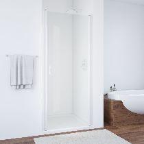 Душевая дверь Vegas-Glass EP 0075 01 01 профиль белый стекло прозрачное