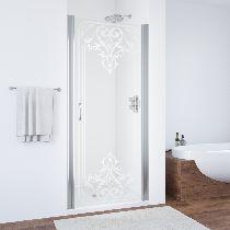 Душевая дверь Vegas-Glass EP 0075 08 ARTDECO D2 профиль хром стекло рисунок матовый стекло прозрачное