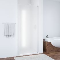 Душевая дверь Vegas-Glass EP 0095 01 10 профиль белый стекло сатин