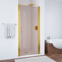 Душевая дверь Vegas-Glass EP 0095 09 05 профиль золото стекло бронза