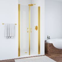 Душевая дверь Vegas-Glass E2P 0070 09 01 профиль золото стекло прозрачное