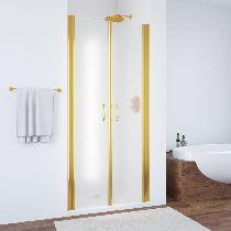 Душевая дверь Vegas-Glass E2P 0070 09 10 профиль золото стекло сатин